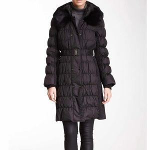 Via Spiga black down & feather puffer medium coat
